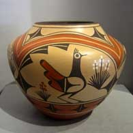 Traditional jar with Zia design