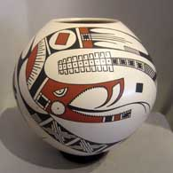 Juan Quezada created this polychrome jar with a serpent and geometric design