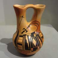 Nyla Sahmie, Hopi-Tewa potter, masde this wedding vase