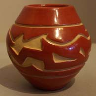 Polychrome pot by Stella Chavarria
