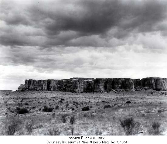 Acoma Pueblo c. 1923 Courtesy Museum of New Mexico Neg. No. 57804