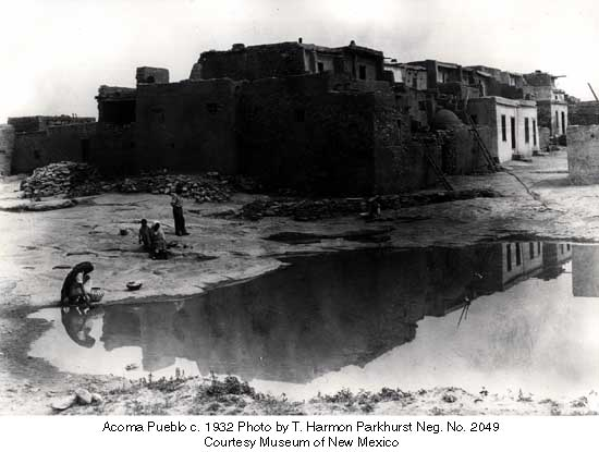 Acoma Pueblo c. 1932 Photo by T. Harmon Parkhurst Neg. No. 2049 Courtesy Museum of New Mexico