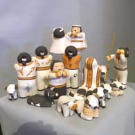 Nativity set with 18 pieces, click or tap to see a larger version