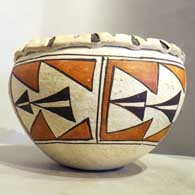 Polychrome jar with geometric design  , click or tap to see a larger version