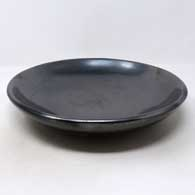 Plain gunmetal black serving plate , click or tap to see a larger version