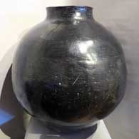 Mother of Margaret, Large polish black storage jar , click or tap to see a larger version