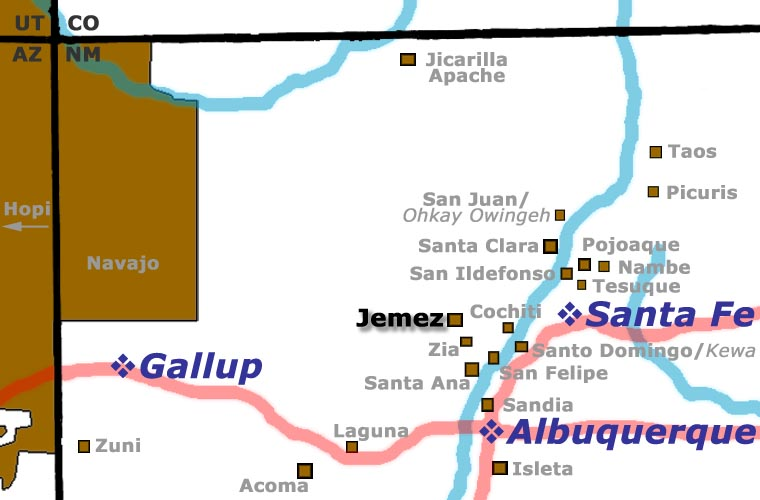 Location of Jemez Pueblo
