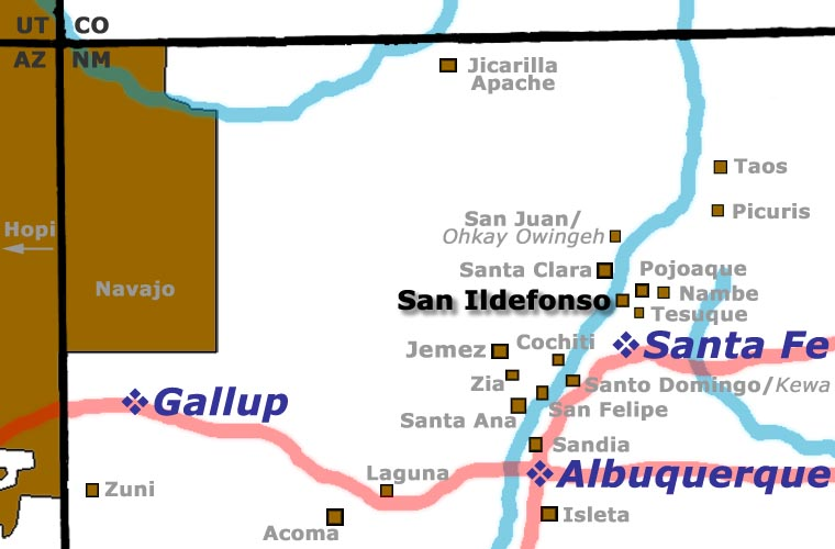 San Ildefonso Pueblo location map
