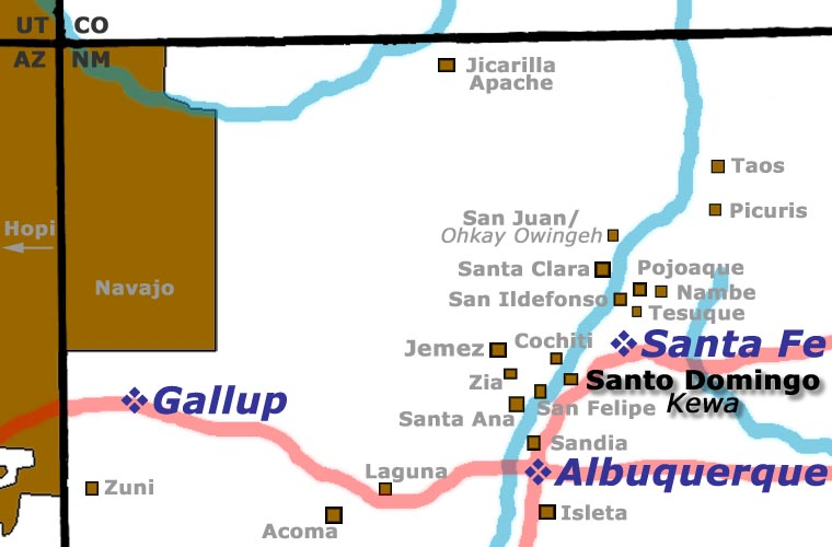 Santo Domingo Pueblo location map