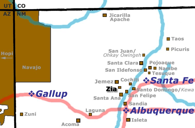 Zia Pueblo location map