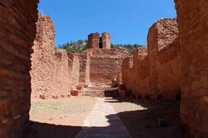 The nave at the ruins of the San Jose de las Jemez Mission