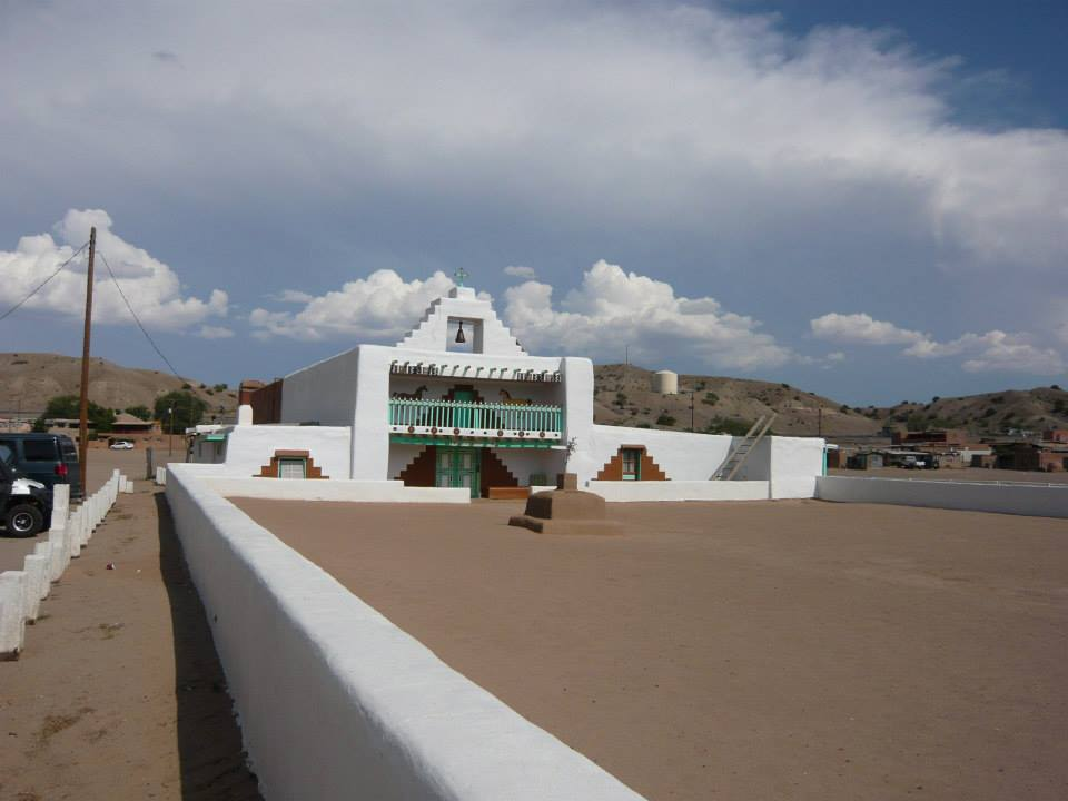 The Mission Church at Santo Domingo Pueblo